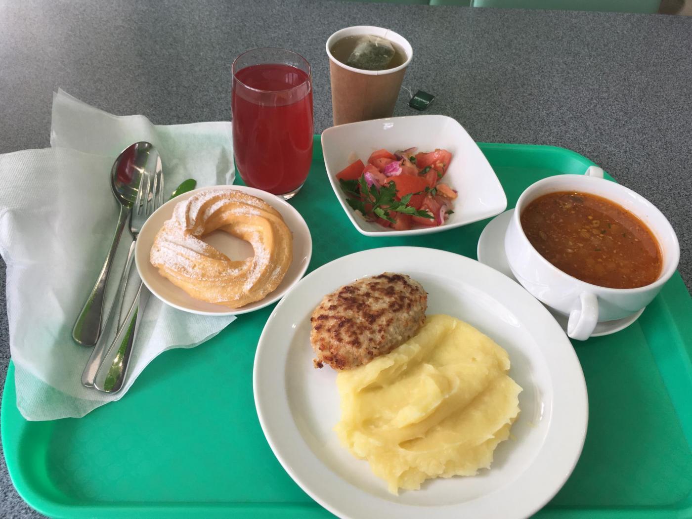 Обед в столовой Домодедово